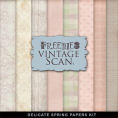 New Freebies Delicate Spring Papers