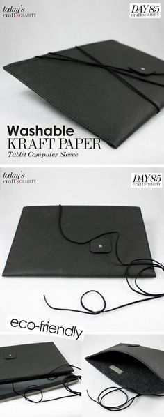 Day 85 - Washable Kraft Paper Tablet Computer Sleeve