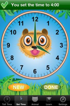 Jungle Time - time app for kids