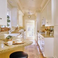 I love this for a galley kitchen