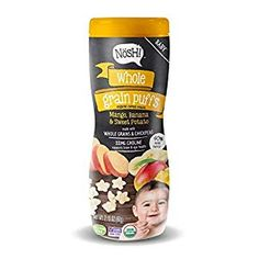 Nosh Whole Grain Puffs Cereal Snacks provide an organic and tasty non-GMO first snack for feeding your baby. These yummy vegetarian puffed stars dissolve easily and are sized right for your baby's little fingers to hold with ease. First Finger Foods, Cold Finger Foods, Puffs Cereal, Baby Cereal, Baby Puree Recipes, Baby Food Recipes, Mango, Bean Flour, Banana Powder