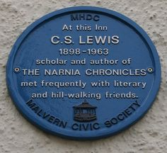 C.S. Lewis Plaque on the Unicorn Inn