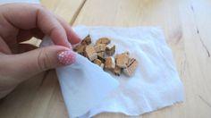 sacchetti profuma armadio: la fibra di nylon è perfetta per far passare il profumo e salvaguardare la biancheria dal diretto contatto con il sughero profumato