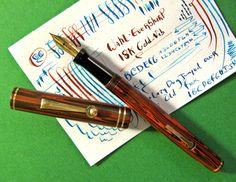 vtg Wahl Eversharp 74 Fountain Pen 18K Flexible X-Fine pt Nib circ 1927 Flex #Eversharp