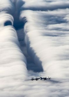 """Tupolev Tu-95MS, NATO reporting name: """"Bear,"""" a large, four-engine turboprop-powered strategic bomber and missile platform. First flown in 1952, the Tu-95 entered service with the Soviet Union in 1956 and is expected to serve the Russian Air Force until at least 2040, photo by Vadim Savitsky"""