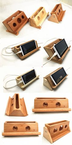Bamboo Wooden iPad Smart Phone Cell Phone Charger Charging Station Holder Pen Pencil Holder Business Card Display Stand Holder to Charge your Phone and Tablet ,Charging Station Ideas to to Make More Tidy Cables Desk Accessories, Cell Phone Accessories, File Folder Organization, Business Card Displays, Pink Galaxy, Pencil Holder, Phone Charger, Small Bags, Diys