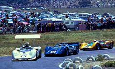 (66) Jim Hall - Chaparral 2G Chevrolet - Chaparral Cars - (6) Mark Donohue - McLaren M6B Chevrolet - Roger Penske Racing - (99) (???)  - Monterey Grand Prix Laguna Seca - Can-Am Laguna Seca - 1968 Canadian-American Challenge Cup, round 4