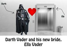 Darth and Ella Vader...This is so bad it's funny.