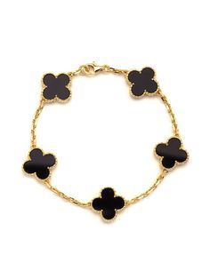 Van Cleef & Arpels 18k Vintage Alhambra Bracelet at London Jewelers!