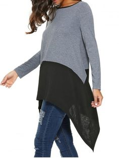 GET $50 NOW   Join RoseGal: Get YOUR $50 NOW!http://www.rosegal.com/blouses/long-sleeve-asymmetrical-blouse-732852.html?seid=8569013rg732852