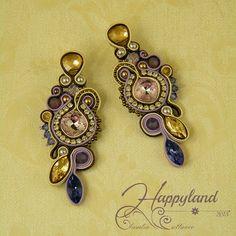 Swarovski soutache earrings