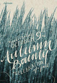 Gorgeous handwritten typography.