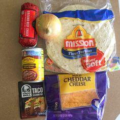 Freezer Beef, Bean, & Cheese Burritos.