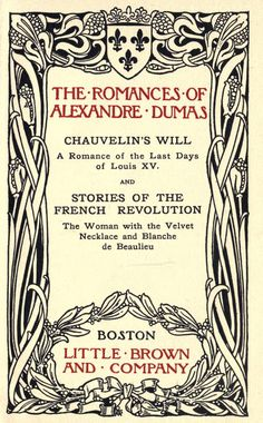 Chauvelin's will, a romance of the last days of Louis XV, and stories of the French Revolution: The woman with the velvet necklace and Blanche de Beaulieu by Dumas, Alexandre, 1802-1870  Published [c1897]    https://ia600408.us.archive.org/BookReader/BookReaderImages.php?zip=/20/items/chauvelinswillro00dumaiala/chauvelinswillro00dumaiala_jp2.zip&file=chauvelinswillro00dumaiala_jp2/chauvelinswillro00dumaiala_0015.jp2&scale=2&rotate=0