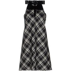 Maison Margiela Short Dress ($670) ❤ liked on Polyvore featuring dresses, black, trapeze dress, tent dresses, short dresses, plaid flannel dress and swing dress