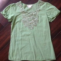 Charlotte Russe Top Very cute Green Charlotte Russe top. No holes, stains, or tears. Smoke free home! Charlotte Russe Tops Blouses