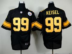 2d3a13206 ... womens Nike Pittsburgh Steelers 99 Brett Keisel Black With Yellow Elite  Jersey ...