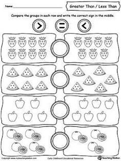 Preschool printable worksheets help children engage in early learning. Use our preschool printable worksheets to teach young children about letters, numbers, shapes and more. Number Worksheets Kindergarten, Printable Preschool Worksheets, Preschool Math, Teaching Math, In Kindergarten, Teaching Geography, Math Math, Writing Worksheets, Free Printable