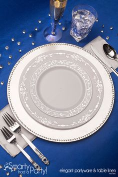 Beautiful Silvestra Place Setting | SmartyHadAParty.com