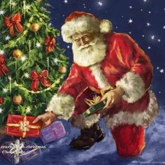 Leading Illustration & Publishing Agency based in London, New York & Marbella. Merry Christmas To All, Christmas Scenes, Father Christmas, Christmas Morning, Beautiful Christmas, Christmas Holidays, Christmas Cards, Christmas Packages, Xmas