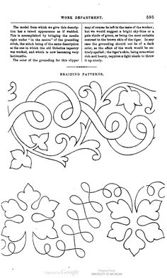 soutache embroidery pattern - braiding pattern