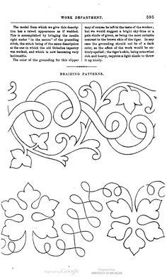 soutache embroidery pattern - braiding pattern