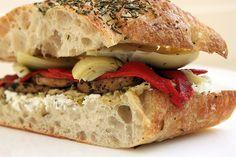 Artichoke and Goat Cheese Sandwich