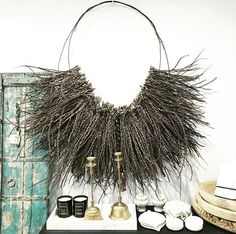 Palm Husk Wall Hanging, XL and Small sizes available at LuMu Interiors – Double Bay - FullSizeRender Palm Frond Art, Palm Tree Art, Palm Fronds, Kids Room Paint, Passementerie, Creative Walls, Tree Wall, Painting For Kids, Wall Sculptures