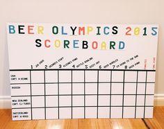 Beer Olympics Scoreboard More