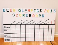 Beer Olympics Scoreboard