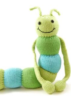 Chadwick the Shakespearean Caterpillar - more green than blue but it makes me happy.
