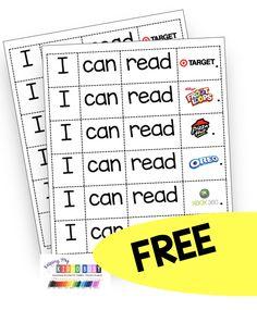 Beginning Of Kindergarten, Kindergarten Freebies, Beginning Of The School Year, Kindergarten Reading, Kindergarten Classroom, Kindergarten Activities, Functional Literacy, Environmental Print, Name Activities