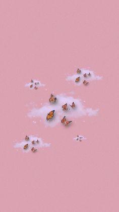 Butterfly Wallpaper Iphone, Iphone Wallpaper Images, Iphone Wallpaper Tumblr Aesthetic, Mood Wallpaper, Homescreen Wallpaper, Iphone Background Wallpaper, Aesthetic Pastel Wallpaper, Retro Wallpaper, Kawaii Wallpaper