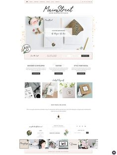 Feminine WordPress Themes with Designer Details, for the Creative Entrepreneur. Every theme is built upon the Genesis Framework & comes with lifetime theme support! Design Websites, App Design, Layout Design, Web Design Studio, Web Layout, Blog Website Design, Wordpress Website Design, Website Themes, Wordpress Template