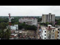 উপর থেকে সিরাজগঞ্জের উল্লাপাড়া বাজারের চিত্র