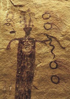 My favourite Sinbad pictograph. Barrier Canyon rock art