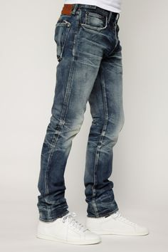 Dark Faded Men's Designer Slim Fit Denim | PRPS Demon Porrima
