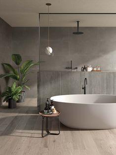 Sleek and Sultry Bathroom bathtub Gorgeous Bathroom Tiles You Need in Your Life . Bathroom Design Luxury, Home Interior Design, Interior Decorating, Foyer Decorating, Decorating Kitchen, Interior Livingroom, Bad Inspiration, Bathroom Inspiration, Dream Bathrooms
