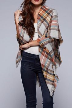 Vintage inspired over-sized plaid scarf - can be worn as a shawl or a wrap.   The Beth Blanket-Scarf by Lovestitch. Accessories - Scarves & Wraps Minneapolis, Minnesota