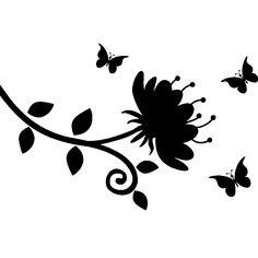 Butterflies and baroque flower
