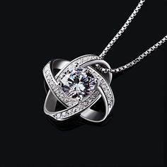 10k solide or blanc New York Love Zircon Cubique Big Apple Coeur Collier Pendentif