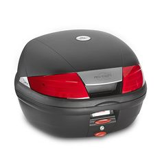 K35 Top-case with red reflectors, capacity 35 ltrs, equipped with plate K628, black colour