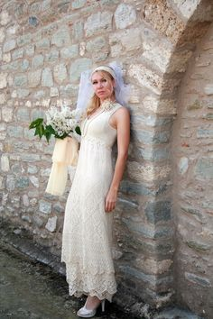 Knit wedding dress.
