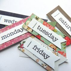 Days of the Week Title Embellishments Lowercase by NikkisPapery, $3.99
