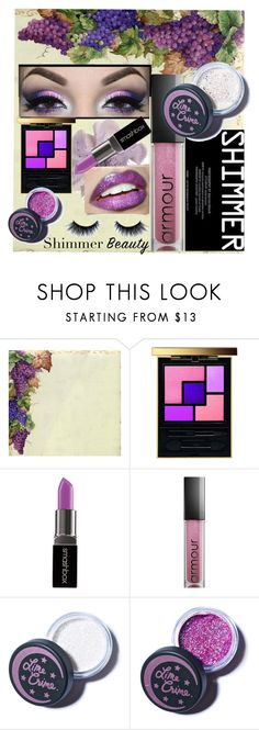 """Shimmer Beauty"" by b-a-hanen on Polyvore featuring beauty, Yves Saint Laurent, Smashbox, Armour, Lime Crime and shimmerbeauty"