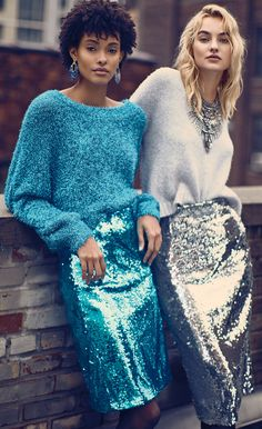 fashion, Fall 2018 Trending Sequins, Fall 2018 Must Have Sequin Fashion Week Paris, Holiday Fashion, Party Fashion, Latest Fashion Clothes, Fashion Outfits, Fashion Trends, Color Combinations For Clothes, Sequin Pencil Skirt, Party Mode