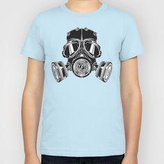 Gas Mask Kids T-Shirt by Salina Ayala - $20.00