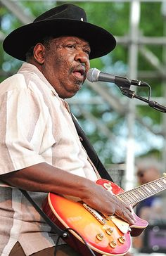 Blues guitarist Magic Slim died Feb. 21, 2013, at the age of 75. He was a contemporary of legends Muddy Waters and Howlin' Wolf. ©AP