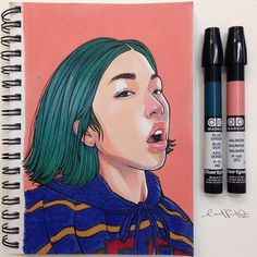 For a better chance of me seeing your photos tag new ones with there are over posts right now and I'm too lazy to scroll over 10 weeks Thanks for your support! Marker Kunst, Marker Art, Sketchbook Inspiration, Art Sketchbook, Art Et Design, Graphic Design, Art Sketches, Art Drawings, Kunst Portfolio