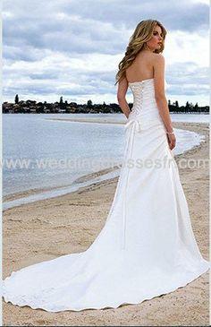 A-ligne sweetheart train chapelle satiné Robe de mariée - €107.79 : WeddingDressesFR.com, Acheter des robes de mariée, robes de mariée, robe...